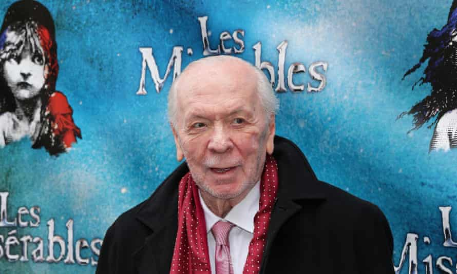 Herbert Kretzmer at the opening night of Cameron Mackintosh's new production of Les Misérables on Broadway in 2014.