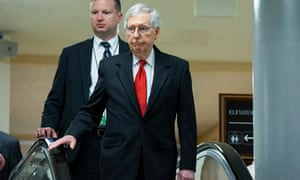 Mitch McConnell on Capitol Hill in Washington DC on 25 September 2019.