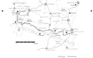 A map illustrating the Bundian Way.