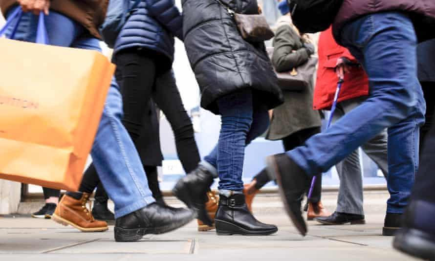 Shoppers on Regent Street in London