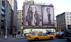A billboard featuring Kate Moss for Calvin Klein jeans, in Times Square, New York, 2007