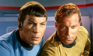 'But not as we know it' … Leonard Nimoy and William Shatner in the TV series Star Trek.
