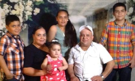 Maribel Trujillo and her family.