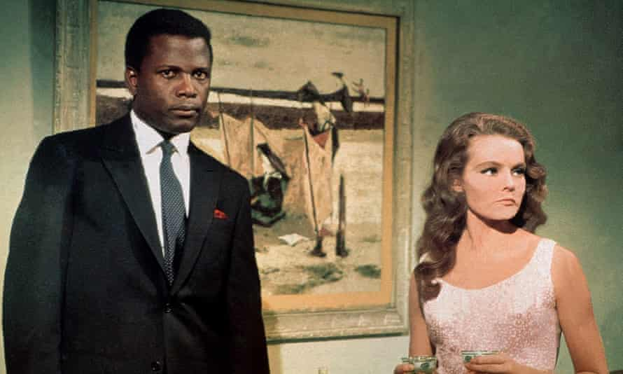 Sidney Poitier and Katharine Houghton in the 1967 film Guess Who's Coming to Dinner