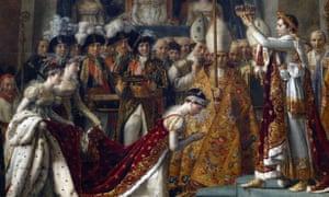Coronación de Napoleón y la emperatriz Josephine, 1804, por Jacques-Louis David.