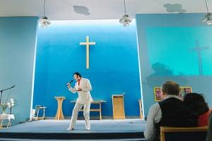 Lewis Hill performing gospel songs at St Emmanuel's Church, Bridlington 2014