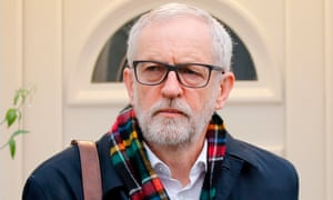 Jeremy Corbyn leaving his home in north London to face Boris Johnson in the Commons after Labour's worst general election defeat since the second world war.