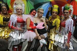 Revellers in costume