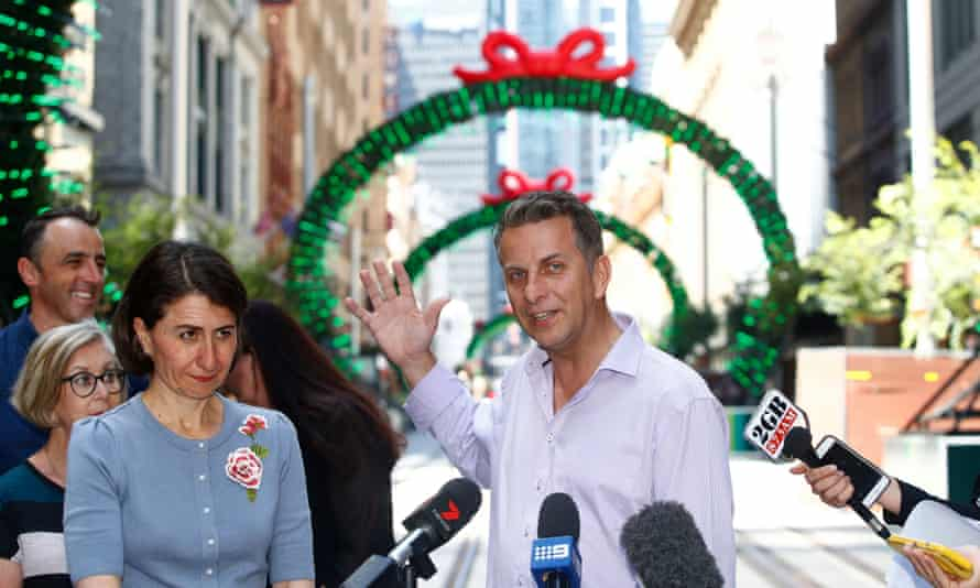 Andrew Constance at the unveiling of the northern George Street section of the light rail in December.