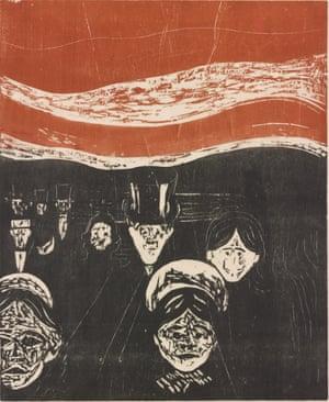 Angst, 1896 by Edvard Munch