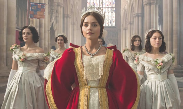Playing Queen Victoria in ITV's take on the formidable monarch. Photograph: ITV