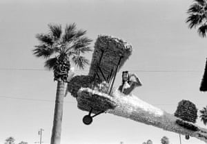 A float in the pre-Christmas parade in Phoenix, 1979.