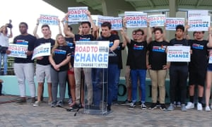 Parkland students announce their national bus tour.