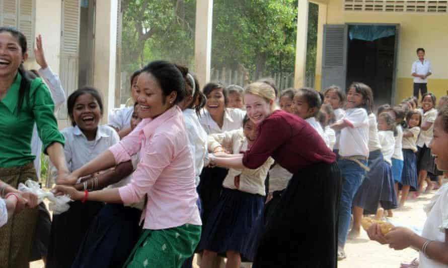 Sarah Pycroft in Cambodia
