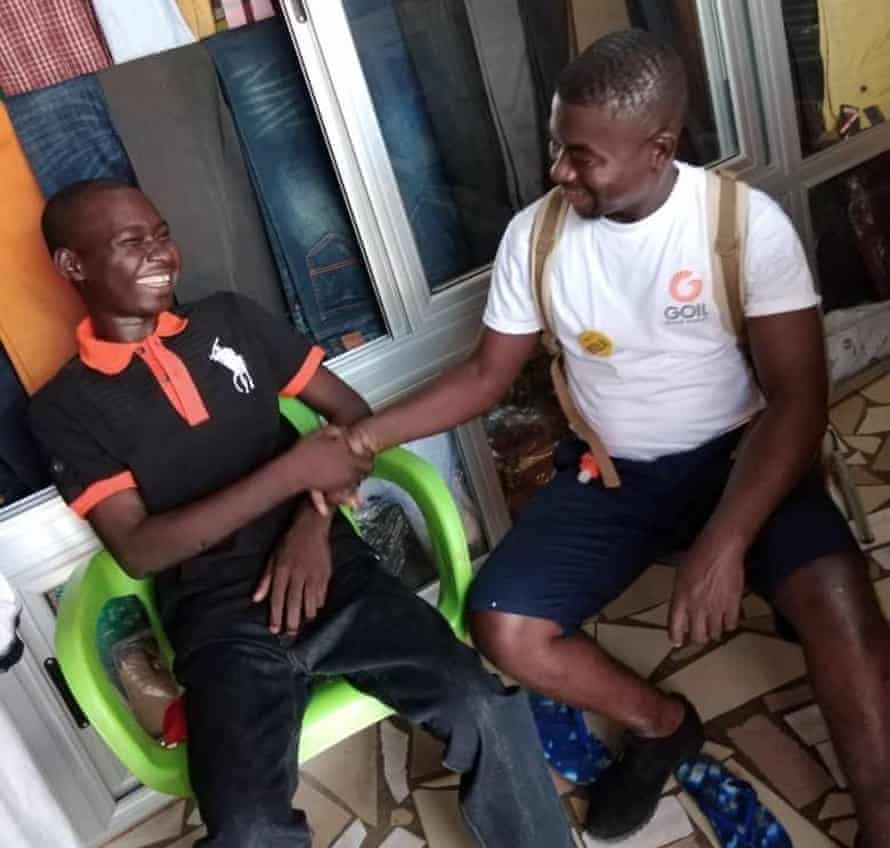 Stephen Asante with Baba.
