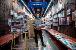 Barcelona, Spain: Caroline Belles, 50, manager of a puzzle shop.
