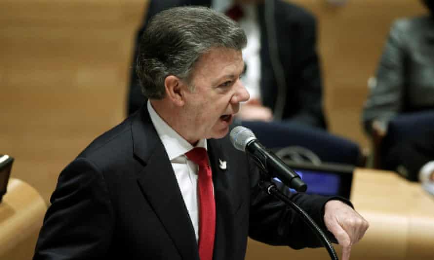 Colombia's President Juan Manuel Santos