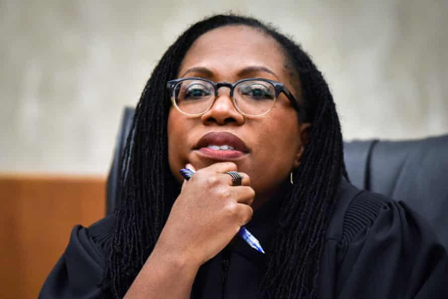 Ketanji Brown Jackson, a US district judge, was nominated to replace attorney general Merrick Garland on the influential US appeals court for the District of Columbia circuit.