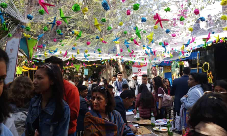 Hundreds of thousands of visitors are expected to descend on the Jaipur literature festival