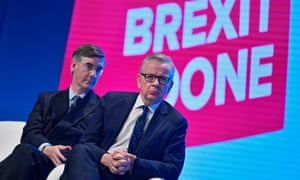 Jacob Rees-Mogg and Michael Gove at the Conservative party conference.
