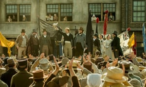 Rallying point Rory Kinnear addresses the crowd in Peterloo.