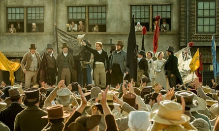 Star turn … the popular orator Henry Hunt, played by Rory Kinnear, speaks at the St Peter's Field protest in Peterloo.