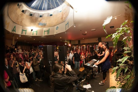 A gig at Mono in Glasgow.