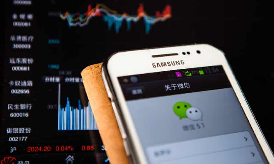 Weixin, or WeChat on a Chinese mobile phone