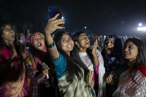 Women attend a candlelight event in Dhaka, Bangladesh