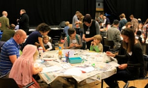 Letters from the sea with artist Alexandra Leadbeater at the Guardian cartoon and art family day