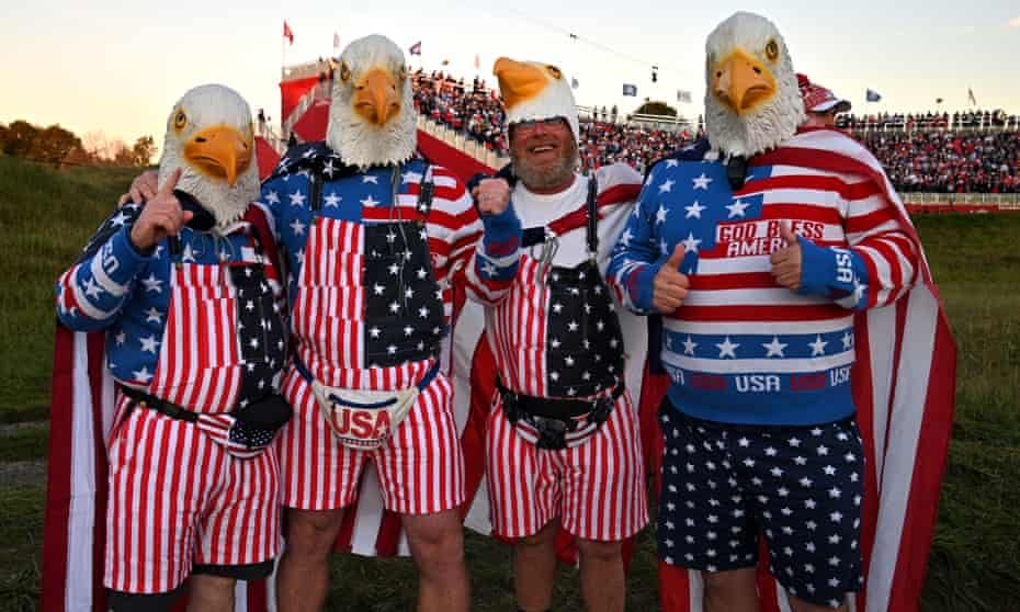 US golf fans dressed for the occasion at Whistling Straits.