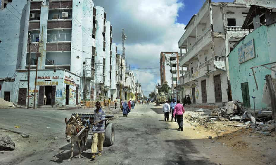 The Bakara market area of Somalia's capital Mogadishu.