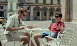 Armie Hammer and Timothée Chalamet in Call Me by Your Name.