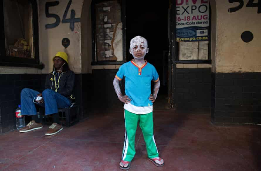 Four-year-old Senzo Qwabe outside 54 Soper Road.