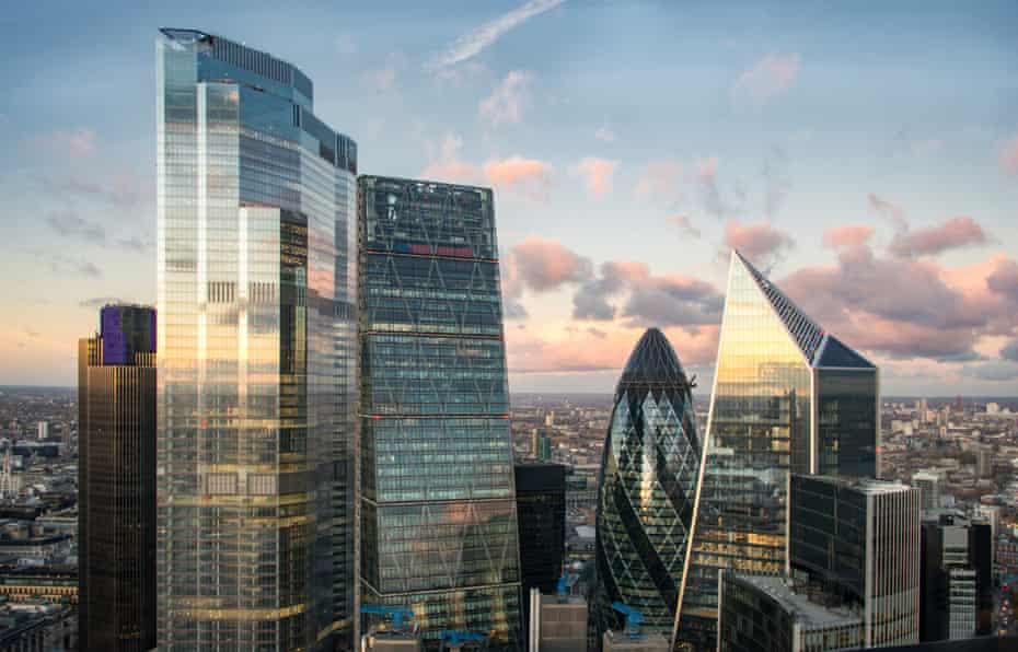 Glacial hulk … 22 Bishopsgate rises above the City of London's skyscrapers.