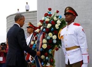 President Obama laid a wreath at the Jose Marti monument in Revolution Square