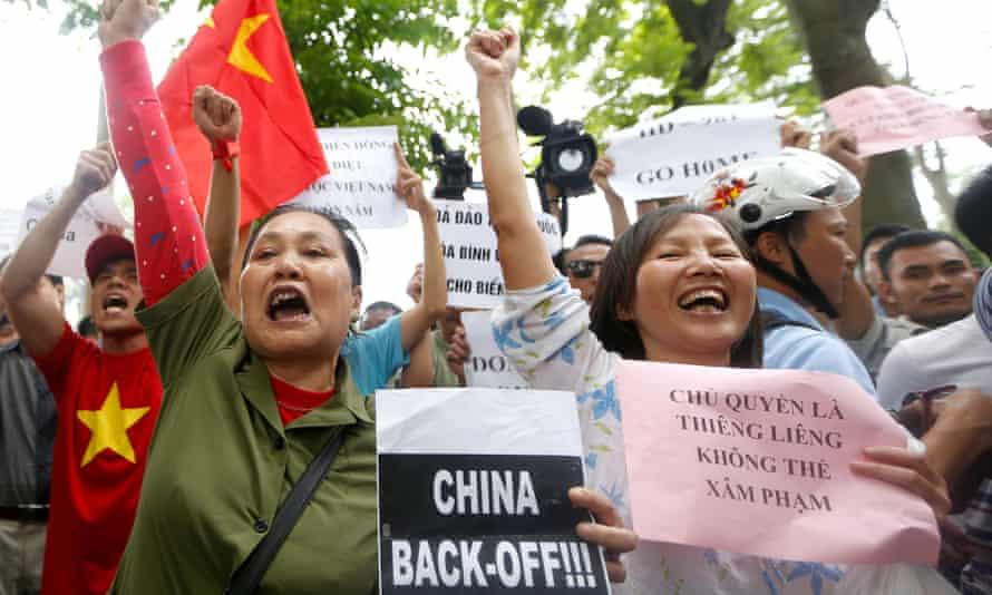 Anti-China protest Hanoi