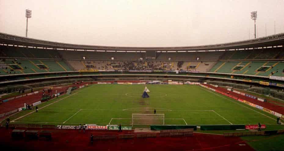 The Stadio Marcantonio Bentegodi in March 2001.