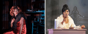 Llewellyn as Bess (left) and Manon Lescaut.