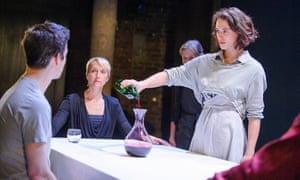 From left, Luke Thompson, Lia Williams, Annie Fairbank and Jessica Brown Findlay in a 2015 production of Oresteia by Aeschylus