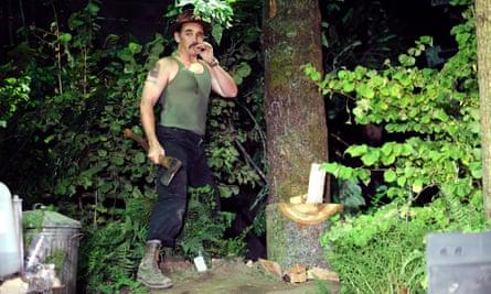 Mark Rylance as Johnny 'Rooster' Byron in Jerusalem.