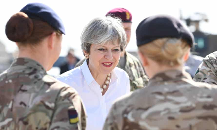Theresa May visits troops in Iraq