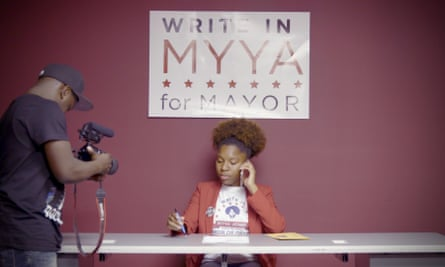 Myya Jones, who faces the most interlocking and insidious friction as a young black female candidate.