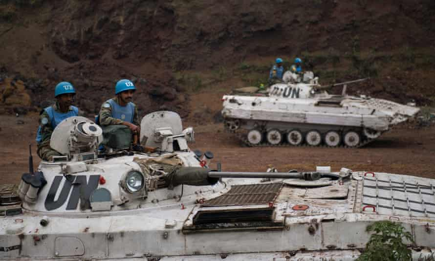 Indian peacekeepers in the east of the Democratic Republic of the Congo in 2013