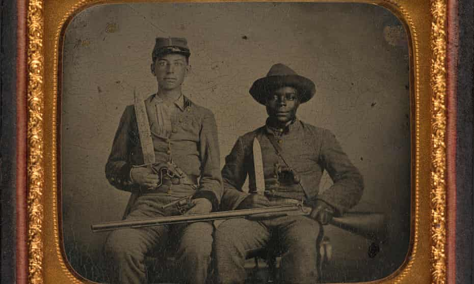 Sergeant AM Chandler of the 44th Mississippi Infantry Regiment, Co F, and Silas Chandler, family slave.