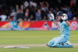 Stokes apologised for the stroke of fortune and the umpires judged that England should earn six runs. However, post-match analysis suggested they should have only been awarded five as the misfielding occurred before Stokes had crossed the line