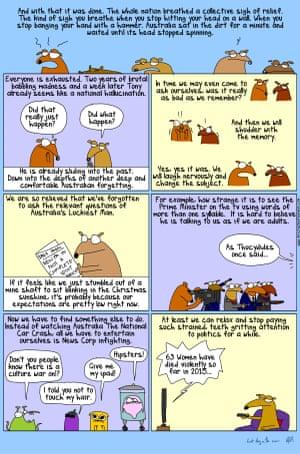 Australia's Luckiest Man – a cartoon by First Dog on the Moon. 23 September 2015