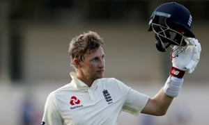England captain Joe Root acknowledges the crowd while leaving the field