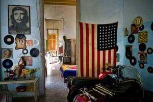 Former boxer and carpenter turned actor Armando Ricart's apartment in Havana, Cuba.