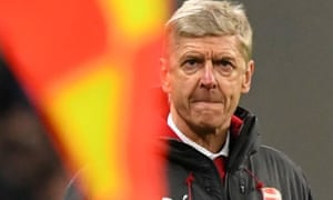 Arsène Wenger watches on during the League Cup final defeat.